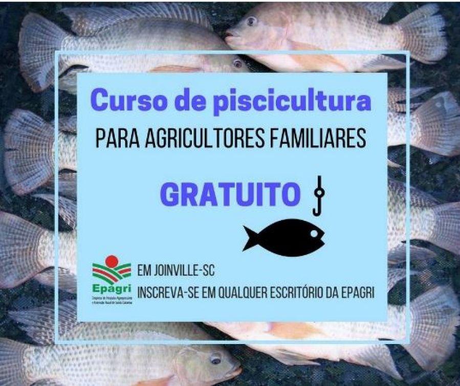 CURSO DE PISCICULTURA, PARA AGRICULTORES E FAMILIARES